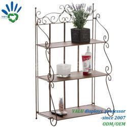 Más reciente de reutilizables 4 niveles de jardín de Metal clásico blanco el apilamiento de racks y estanterías