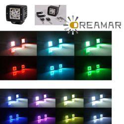 16W Pods de LED RGB com controle remoto