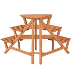 Jardin 3-Tier usine de bois Stand Présentoir en bois bois naturel