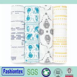 Muselina de alta calidad bebé lactante de envoltura de tela de bambú