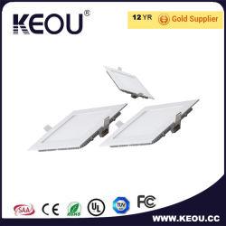 Voyant de panneau à LED ultra mince Square de l'éclairage du panneau de plafond