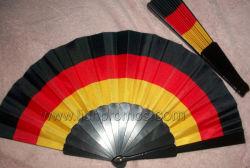 국경일 축하 선물 플라스틱 직물 접히는 팬을 인쇄하는 독일 깃발 삽화