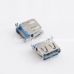 USB 3.0 Type 'a', SMT, Vergaarbak, usbx-A9fx-Xxm0-05