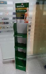 Affichage du compteur de carton ondulé de vente au détail papier Présentoir de sol