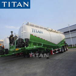35m3 40t Cheap Dry Bulk Cement Powder Material Storage Tanker Sand Trailers China Transporteurs Tankers Transport Trailer Vehicle
