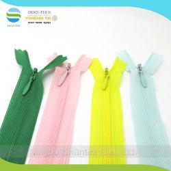 #3 de nylon para esconder as rendas de cadeia longa Zipper invisível para roupa
