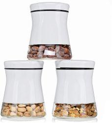 Glazen bewaarfles van 700 ml met roestvrijstalen snoep met coating Flessen Glass Mason Jar voor glazen snacks en thee flessen Voor de keuken