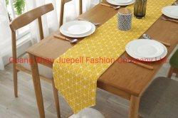 OEM tejido de algodón hidrófilo cena decoración Póster tetera / alfombra de taza de té de la lámpara Jarrón velas posavasos mantel de tela de la deslizadera tabla