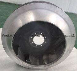 Ventola centrifuga in lega di alluminio pressofusa di precisione utilizzata per la guida Sistema di ventilazione di transito