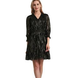 블랙 실크 와이어 크롭 슬리브 드레스 스커트