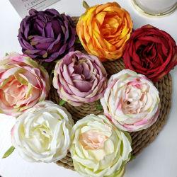 かなり9-10 Cmローズヘッドは結婚式の装飾のために花を維持した