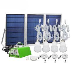 Sonnenkollektor-Beleuchtung-Installationssatz, Solarausgangs-Gleichstrom-Systems-Installationssatz, USB-Solaraufladeeinheit mit der 4 LED-Glühlampe als Notleuchte