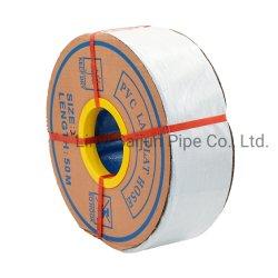 Blauw Rood 3 inch PVC-leken platte slang met polyester versteviging Van de fabriek