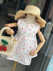 Balance de los niños Niño ropa de algodón de verano vestidos estampados vestido de niña Ropa de niños Cute Princess la belleza de los niños las prendas de vestir