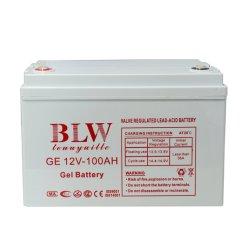 Batterie 12V 17ah/24ah/33ah/38ah/40ah/65ah/100ah/120ah/150ah/200ah/250ah portatile ricaricabile AGM Solar gel Batteria al piombo-acido con parte superiore a ciclo profondo per l'energia solare