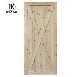 러시아 소나무 헛간문 침실을%s 단단한 나무로 되는 미닫이 문 실내 나티 파인 헛간문