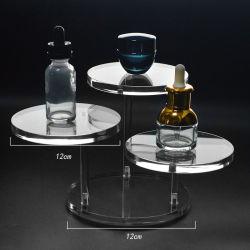 Custom 3 Beine Drehbar Runde Acryl Blatt Kosmetische Uhr Schmuck Setzen Sie Den Standfuß Ein