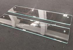 6мм угловой ванной полки закаленное ясно закаленного стекла полки