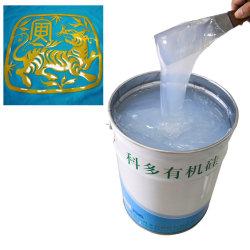 Barato líquido por grosso de borracha de silicone Material para Revestimento têxtil moldagem de impressão