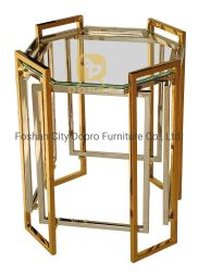 En acier inoxydable Table latérales en verre Table en verre Accueil Mobilier de Morden