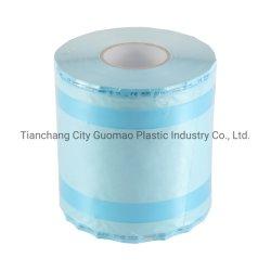 Esterilización de envases médicos de alta calidad funda molinete Gusseted Rollo para autoclave de vapor/Esterilización EO TAMBOR