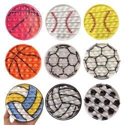 شعار مخصص لكرة البيسبول كرة السلة الكرة الطائرة بوب فيدس فيدس ألعاب فقاعات بوفيه اضغط لعبة الحسي للبالغين لتخفيف الضغوط فقاعة البوب فيديتس تويز