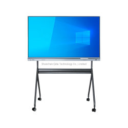 "65""~100"" 4K UHD LCD 일체형 적외선 카메라가 있는 전자 멀티 터치 스크린 대화형 화이트보드 스마트 보드 컨퍼런스 및 클래스룸 마이크"