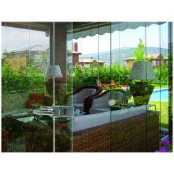 Neuester Entwurf, der Frameless Glaszwischenwand für die Terrasse glasiert mit guter Qualität schiebt