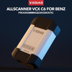 Vcx Vxdiag C6 para a Ferramenta de Diagnóstico Automático Profissional Benz DP conectar melhor do que a MB Star C4 C5 OBD2 WiFi Scanner de código de inicialização