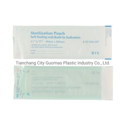 Dental 60g Medical Paper의 의료용 자체 밀봉 멸균 포치 스팀 및 Eo 표시등