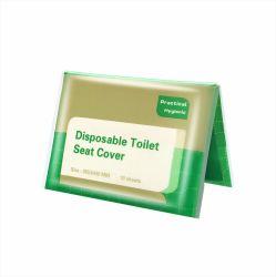 10 Wc descartáveis tampas de assento sanitário descartável biodegradável de viagens em papel