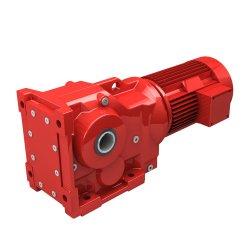 Fábrica de Shanghai Torqoe de alta calidad de exportación a bajo régimen K157 Velocidad de la unidad de engranaje cónico helicoidal para agitador