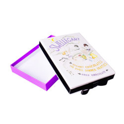 Square de la Dentelle boîte de chocolats découpé au laser pour l'invitation de mariage