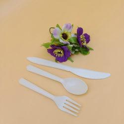 حماية البيئة أدوات مائدة قابلة للتحلل الحيوي يمكن التخلص منها بعد الاستخدام من نشويات الذرة