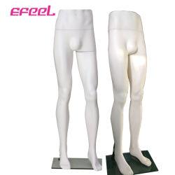立場ベースが付いているズボンの表示のためのセクシーなプラスチック永続的な女性のマネキンの足