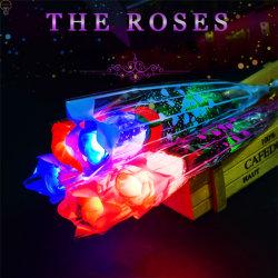 LED piscando Simulation Rose Flower Noite de Núpcias de Luz