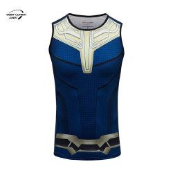 Supereroe della camicia dell'uomo della camicia delle signore Legging della camicia di compressione del supereroe della camicia dell'uomo della camicia delle camice dell'uomo di usura di ginnastica dei vestiti di sport della camicia delle signore Legging di Cody Lundin