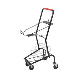Tipo do Japão da cesta de compras de supermercado de Metal Cart Carrinho com 2 Cesta