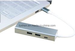 El MacBook al tipo de caso-C/LAN Ethernet USB 3.0 tarjeta con el puerto de carga de Pd y 2X3.0 puertos USB, Suitalbe para MacBook 12 pulg.