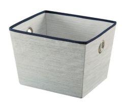 Cinzento claro Nonwoven Fabric cesto de armazenamento dobrável