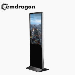 55 Inch Super Kiosque Ultraminces Bluetooth lecteur vidéo de la publicité pour la publicité à petit écran Moniteur de vidéosurveillance