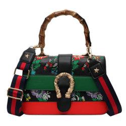 La broderie cuir synthétique Handbag Handbag Handbag Fashion femmes Concepteur de sac à main Lady Handbag Mesdames Handbag Handbag tissu OEM/ODM Handbag (WDL5470)