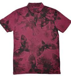 أزياء ملابس رياضية ملابس رجال يرتدون ملابس جولف قميص بولو مظلمة قميص بولو بلch قميص بولو بلصقة OP بالجملة باللون الأحمر