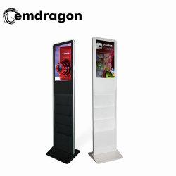 Ad Player напольные киоск с брошюра держатель двойного 32 дюйма ЖК-экранов рекламы плеер реклама машины
