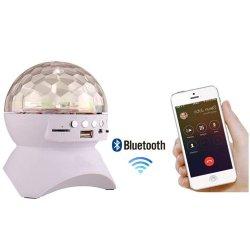Voyant feux de l'étape Bluetooth DJ éclairage de scène Crystal rotatif Magic Ball la lumière de son éclairage activé Lecture MP3