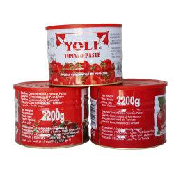 Comercio al por mayor las conservas de pasta de tomate 2200g