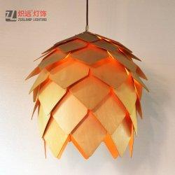 ديكور خشبي حديث مصنوع يدويا الديكور مصباح بندول قرمزي