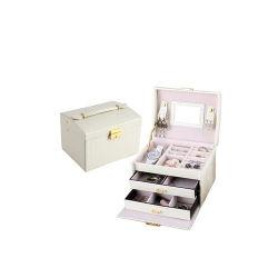 El caso de cosméticos de cuero blanco Kit de Maquillaje (HB-6605)