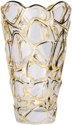 Máquina de estilo europeu Pressione Limpar ou vaso de vidro de cristal de ouro, decorado por Flower Crystal Bud vaso de vidro