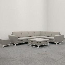 Tissu extérieur canapé de coupe en aluminium de meubles de jardin